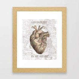 adventure heart-world map 1 Framed Art Print