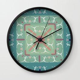 Dancing with Lanterns Pattern Wall Clock