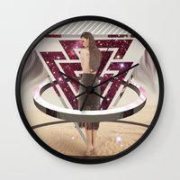 giants Wall Clocks featuring Giants by Trickyricky901