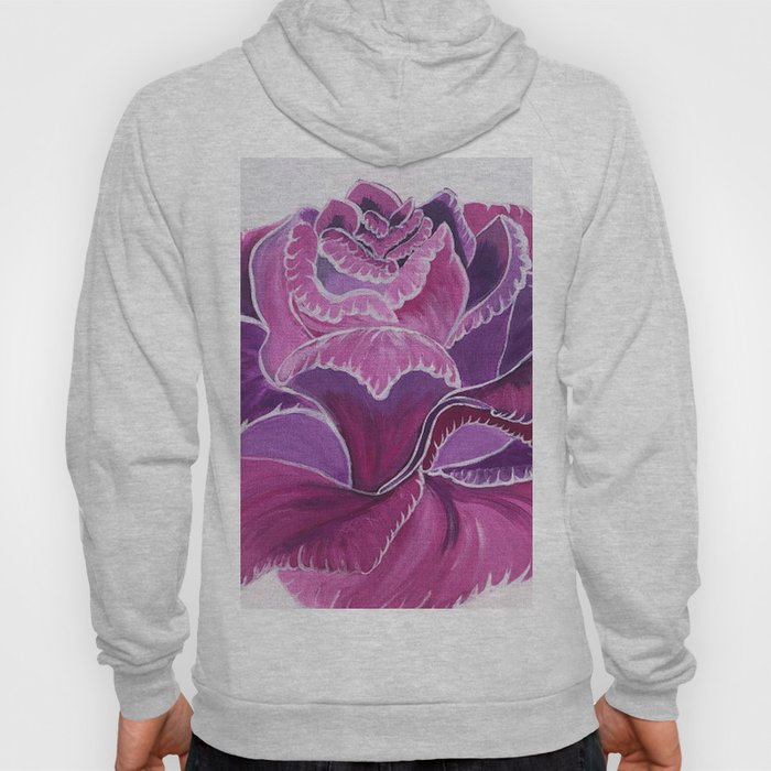 Knitted Flower Artwork Hoody