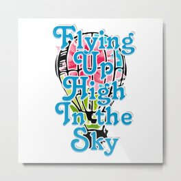 Flying Up High In the Sky Metal Print