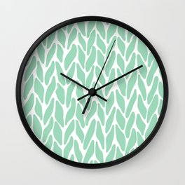 Hand Knitted Mint Wall Clock