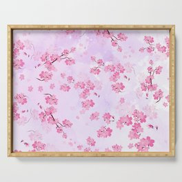 Cherry Flower Serving Tray