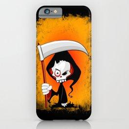 Grim Reaper Creepy Cartoon Character iPhone Case