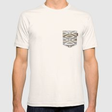WILD SOUL - NATIVE WOOD Mens Fitted Tee LARGE Natural