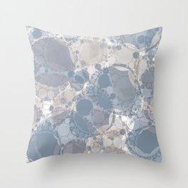 Round & Round Smoke & Steel Throw Pillow