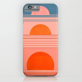 Abstraction_Sunset_Minimalism_002 iPhone Case