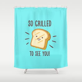 Cheesy Greetings! Shower Curtain