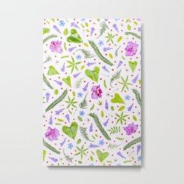 Leaves and flowers (8) Metal Print