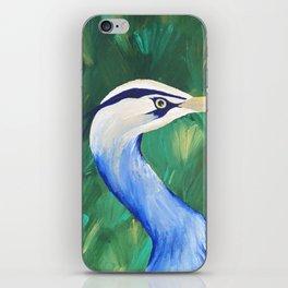 Heron in the Grass iPhone Skin