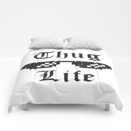 Thug life glasses print Comforters