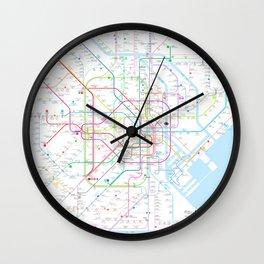 Tokyo subway metro map Wall Clock