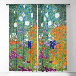 Gustav Klimt - Cottage Garden Blackout Curtain