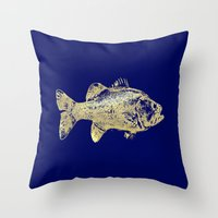 goldfish Throw Pillows featuring goldfish by EnglishRose23