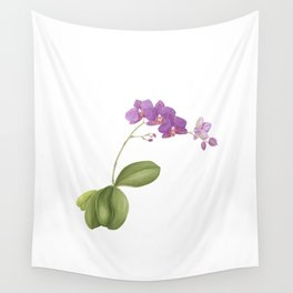 Flowering purple phalaenopsis orchid Wall Tapestry