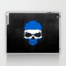 Flag of Honduras on a Chaotic Splatter Skull Laptop & iPad Skin