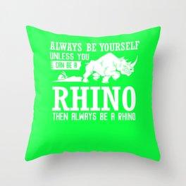 Rhinoceros Gift Save The Rhinos Throw Pillow
