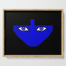 Ring Light Eyes Abstract Portrait Serving Tray