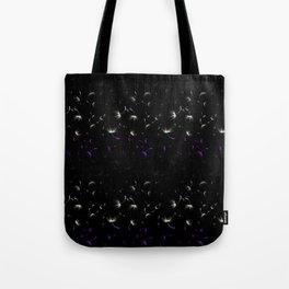 Dandelion Seeds Asexual Pride (black background) Tote Bag