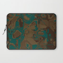 Peacock and Brown Laptop Sleeve