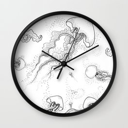 Flying Jellyfish Wall Clock