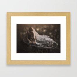 Dreaming of a white wedding Framed Art Print