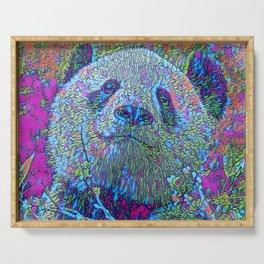 Abstract Panda Serving Tray