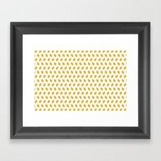 rhombus bomb in mimosa Framed Art Print