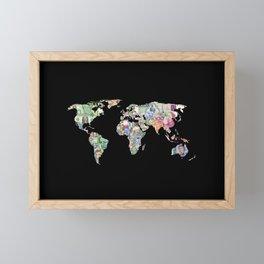 world currency map Framed Mini Art Print