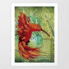 Humming Phoenix  Art Print
