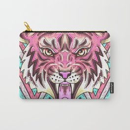 Pink Tiger Chevron Carry-All Pouch