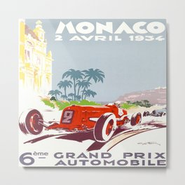 Monaco 1934 Monte-Carlo Grand Prix Metal Print