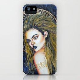 Henna Pattern Acrylic Portrait iPhone Case