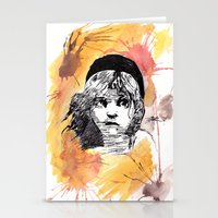 les miserables Stationery Cards featuring Les Miserables by Taylor Starnes