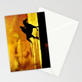 The rider on the white horse  Stationery Cards