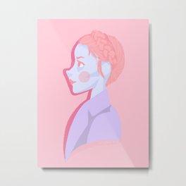 Pastry girl (facing 'Lobby boy') Metal Print