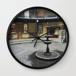 Provincetown Fountain Wall Clock