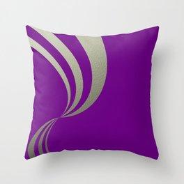 Eleganza,violet Throw Pillow