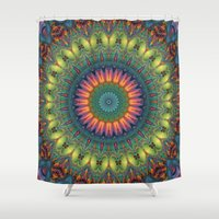 trippy Shower Curtains featuring Trippy by Lyle Hatch