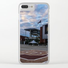 McLane Stadium Clouds Clear iPhone Case