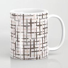 Rustic Texture Grunge Stripes Winter White Coffee Mug