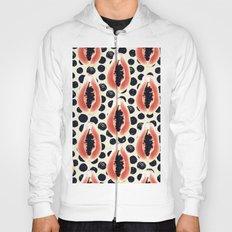 papaya pattern Hoody