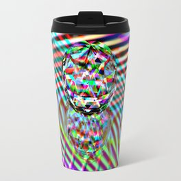 The second Colour of facets Travel Mug