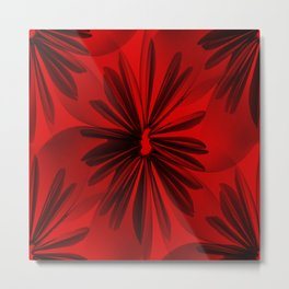 Red Origami Flowers #decor #society6 Metal Print