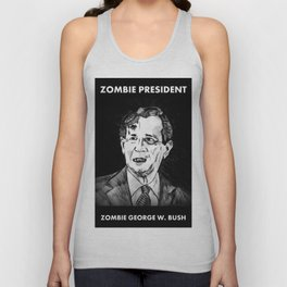 43. Zombie George W. Bush  Unisex Tank Top