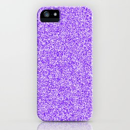Spacey Melange - White and Indigo Violet iPhone Case