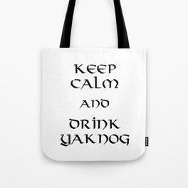 Keep calm and drink yaknog Tote Bag