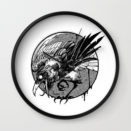 Noisy raven Wall Clock