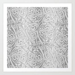 Celtic Warlord silver Art Print