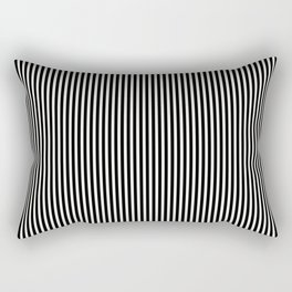Simple Black & White Licorice Cabana Stripe Rectangular Pillow